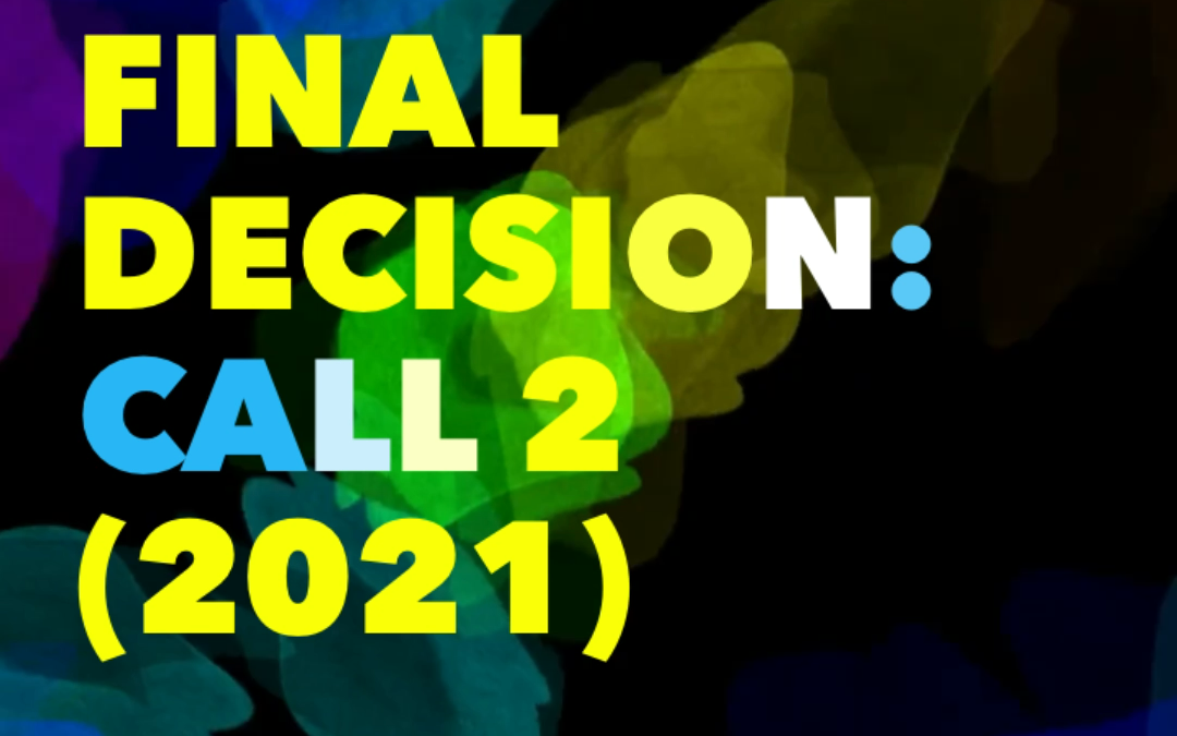 STSM FINAL DECISION: CALL 2 (2021)